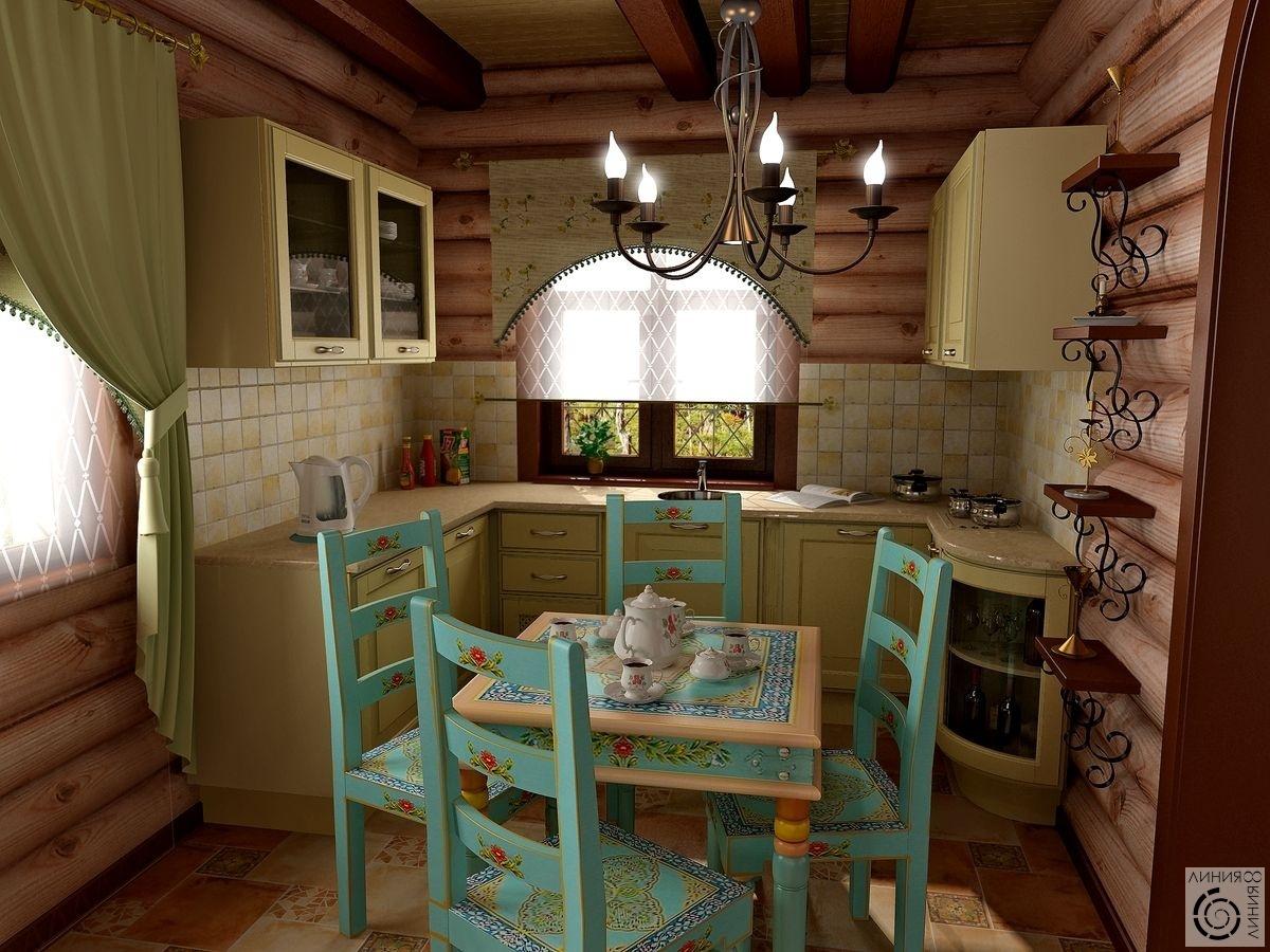 Интерьеры деревянного дома. Визуализации проектов
